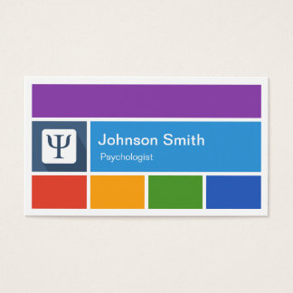 Psychologist - Creative Modern Metro Style Business Card