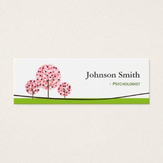 Psychologist - Cute Pink Wishing Tree Logo Mini Business Card