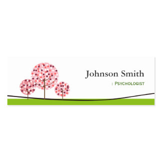 Psychologist - Cute Pink Wishing Tree Logo Pack Of Skinny Business Cards