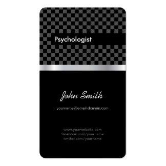 Psychologist - Elegant Black Checkered Pack Of Standard Business Cards