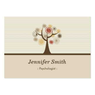 Psychologist - Elegant Natural Theme Pack Of Chubby Business Cards