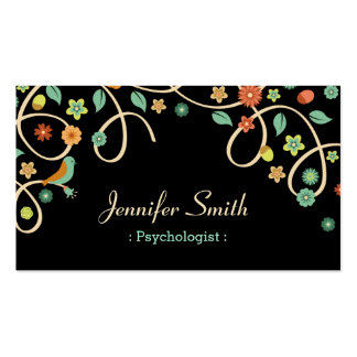 Psychologist - Elegant Swirl Floral Pack Of Standard Business Cards