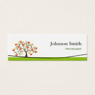 Psychologist - Elegant Swirl Wish Tree Symbol Mini Business Card