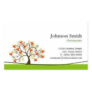 Psychologist - Elegant Swirl Wish Tree Symbol Pack Of Standard Business Cards