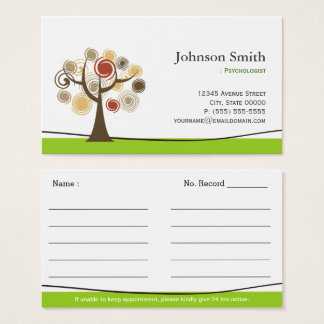 Psychologist - Elegant Tree of Life Appointments Business Card