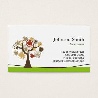 Psychologist - Elegant Tree of Life Symbol Business Card