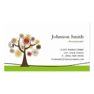 Psychologist - Elegant Tree of Life Symbol Pack Of Standard Business Cards