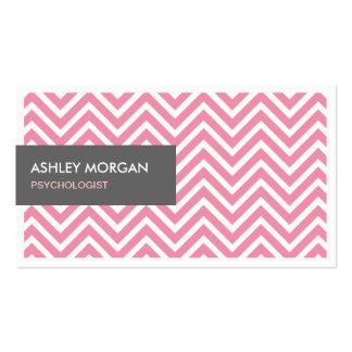 Psychologist - Light Pink Chevron Zigzag Pack Of Standard Business Cards