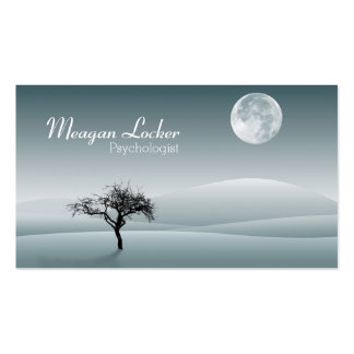 Psychologist - Moon and Solitude Tree Pack Of Standard Business Cards