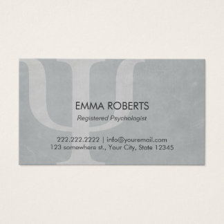 Psychologist Professional Appointment Business Card