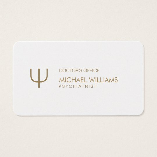 Psychologist - Professional elegant white symbol Business Card