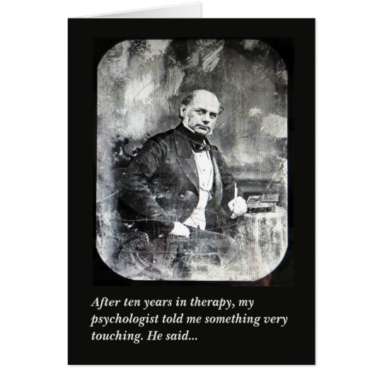 Psychologist psychiatrist humourous greeting card