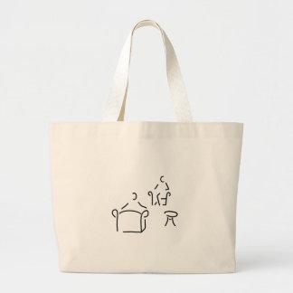 psychologist psychotherapeut psychotherapie jumbo tote bag