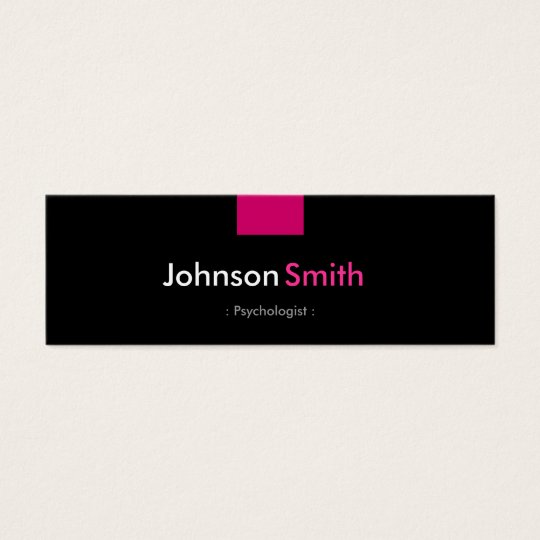 Psychologist - Rose Pink Compact Mini Business Card