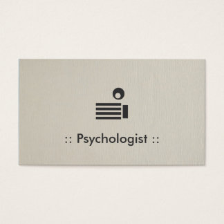 Psychologist Simple Elegant Professional Business Card