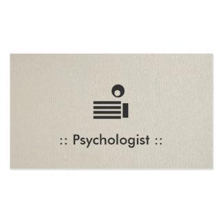 Psychologist Simple Elegant Professional Pack Of Standard Business Cards