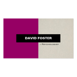 Psychologist - Simple Elegant Stylish Double-Sided Standard Business Cards (Pack Of 100)