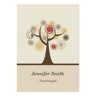 Psychologist - Stylish Natural Theme Pack Of Chubby Business Cards