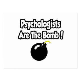 Psychologists Are The Bomb! Postcard