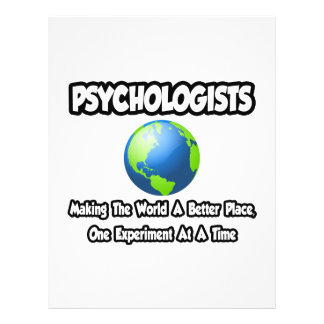 Psychologists...Making the World a Better Place 21.5 Cm X 28 Cm Flyer