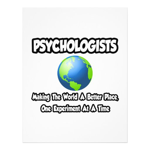 Psychologists...Making the World a Better Place Full Color Flyer