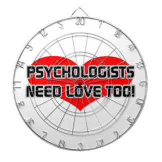Psychologists Need Love Too Dartboards