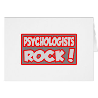 Psychologists Rock! Greeting Cards