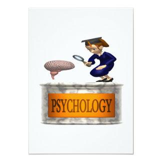 Psychology 13 Cm X 18 Cm Invitation Card