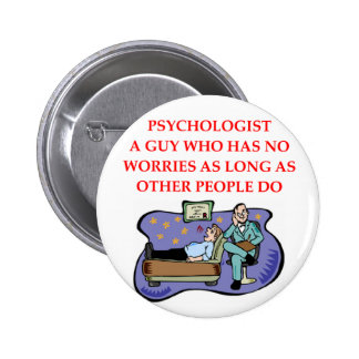PSYCHOLOGY 6 CM ROUND BADGE