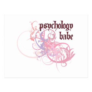 Psychology Babe Postcard