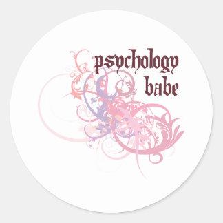 Psychology Babe Round Stickers