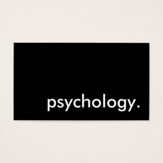 psychology. business card