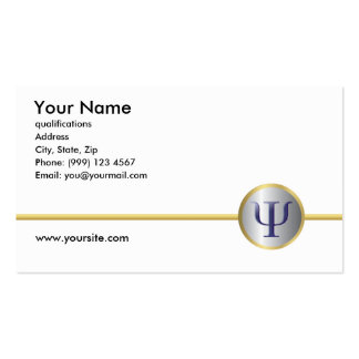 Psychology Business Card, Double Sided Pack Of Standard Business Cards