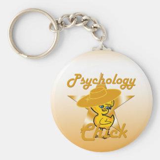 Psychology Chick #10 Basic Round Button Key Ring
