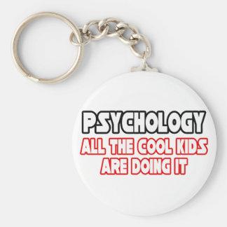 Psychology...Cool Kids Basic Round Button Key Ring
