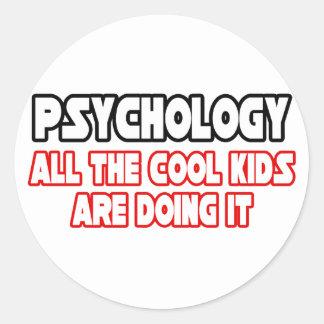 Psychology...Cool Kids Classic Round Sticker