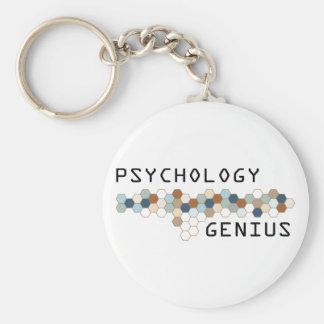 Psychology Genius Basic Round Button Key Ring