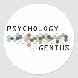 Psychology Genius Classic Round Sticker
