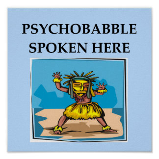 psychology joke poster