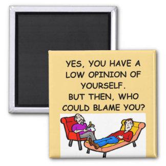 PSYCHology joke Square Magnet