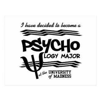 Psychology Major postcard - funny announcement