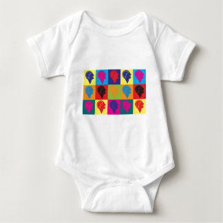 Psychology Pop Art Baby Bodysuit