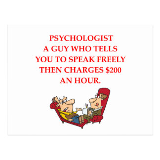 PSYCHOLOGY POSTCARD