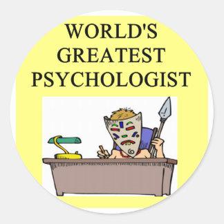 psychology psychologist joke classic round sticker