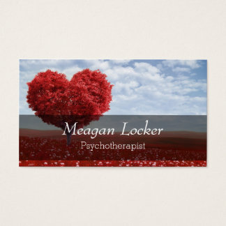 Psychology Red Heart Tree Business Card