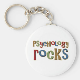 Psychology Rocks Basic Round Button Key Ring