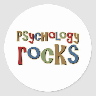 Psychology Rocks Round Sticker