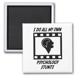 Psychology Stunts Square Magnet