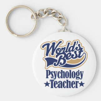 Psychology Teacher Gift For Basic Round Button Key Ring