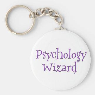 Psychology Wizard Basic Round Button Key Ring